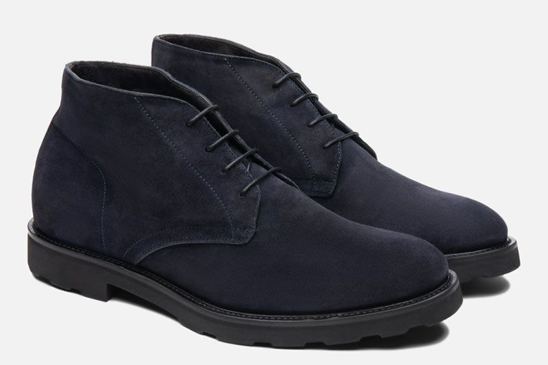 Gordon Rush Wesley Chukka Boot Navy Side View Pair