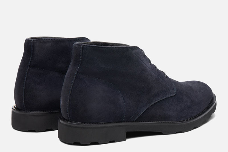 Gordon Rush Wesley Chukka Boot Navy Rear View Pair