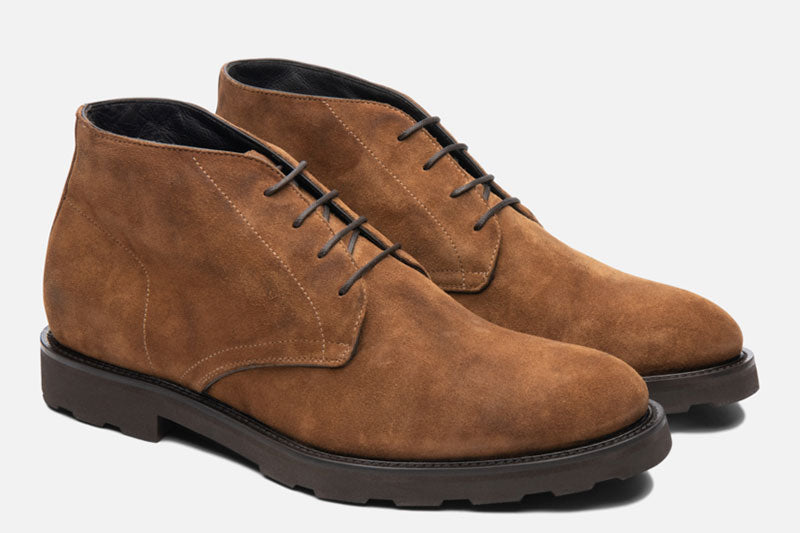 Gordon Rush Wesley Chukka Boot Tan Side View Pair
