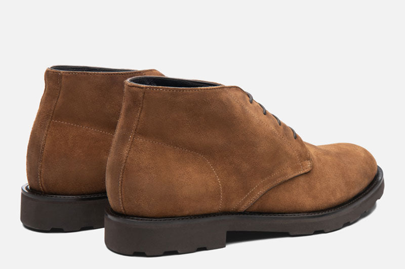 Gordon Rush Wesley Chukka Boot Tan Rear View Pair