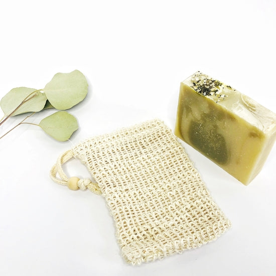 Biodegradable Sisal Soap Saver Pouch