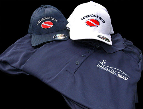 Custom Embroidery: Lauderdale Diver Hats & Polos