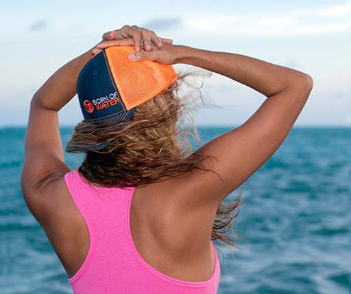 Neon Trucker Hat: Scuba Diving