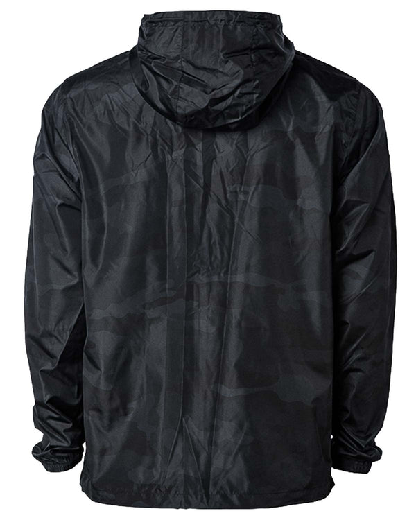Speared Lightweight Anorak Pullover - Black Camo - Back