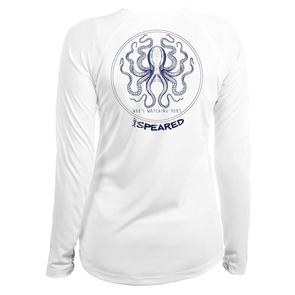 Speared Kraken UV Women's Shirt - White - Back