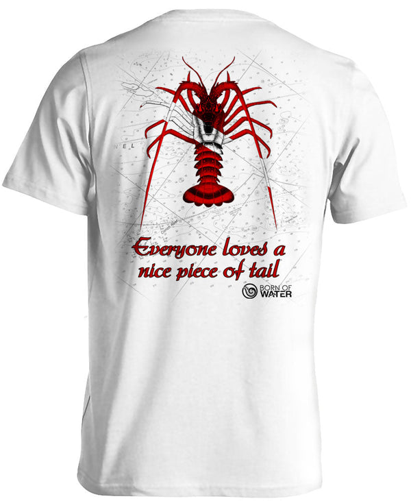 Scuba Diving Shirt: Lobster  WHite - Back