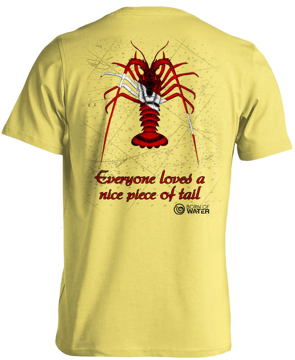 Scuba Diving Shirt: Lobster Yellow - Back