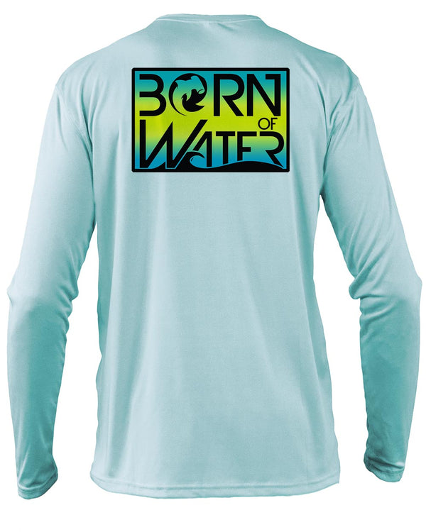 Circling Hammerhead Bahamas UV UPF 50+ Performance Shirt: Lt. Blue - Back