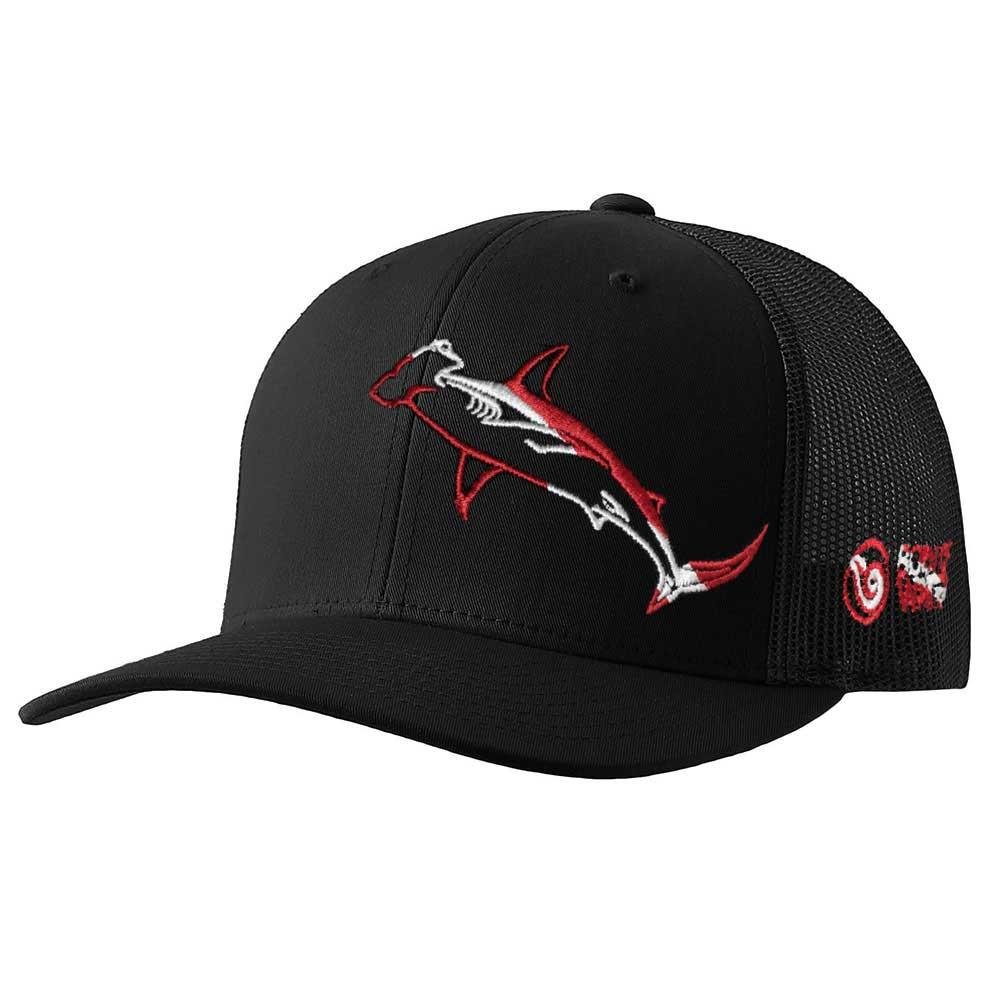 Hammerhead Shark Scuba Diving Trucker Hat - Front