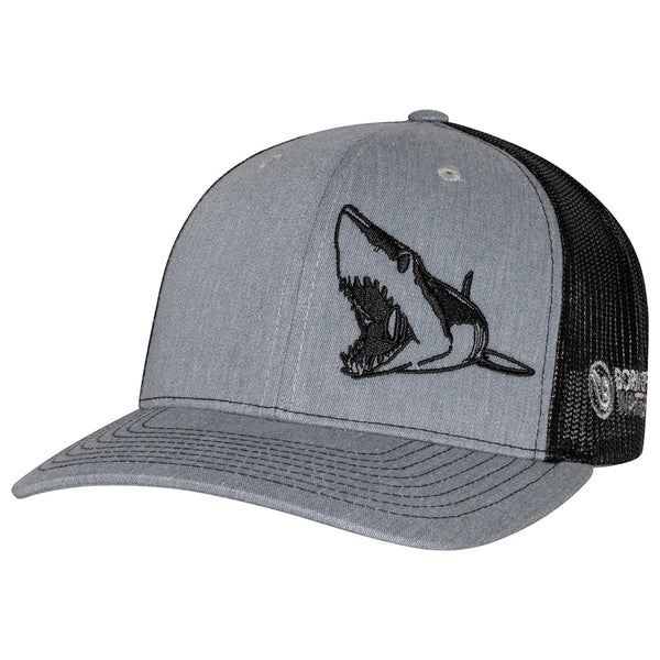 Mako Shark Scuba Diving Trucker Hat - Heather Gray/Black - Front