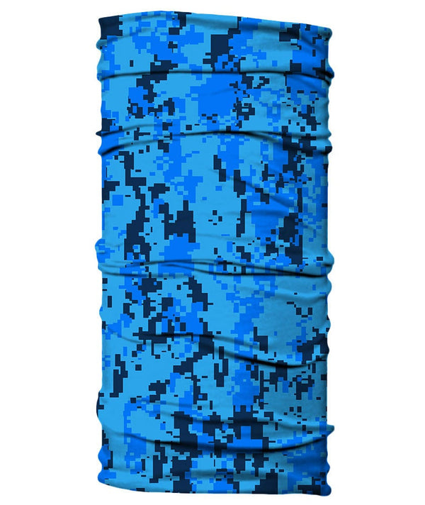 Neck Gaiter - Digital Camo Camouflage - Blue
