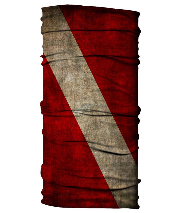 Neck Gaiter - Diver Down Flag - Grungy