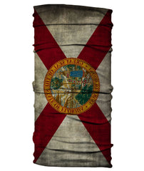 Neck Gaiter - State of Florida Flag - Grungy
