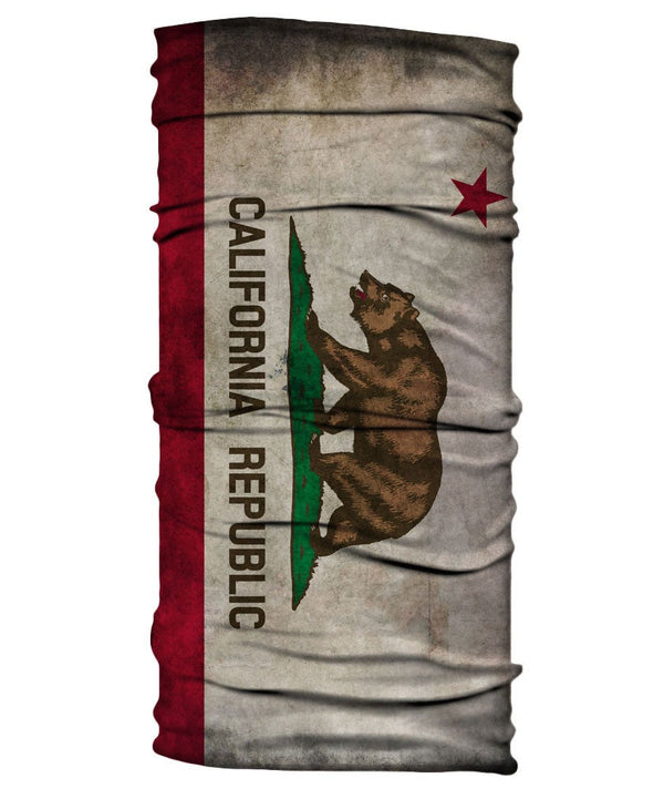 Neck Gaiter - California Flag - Grungy