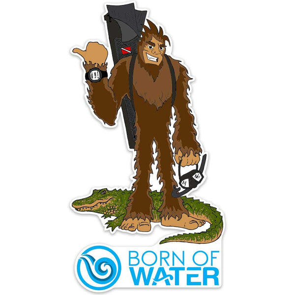 Skunk Ape Freediver Sticker
