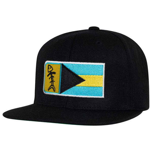 Speared Bahamas Flag Hat: Black
