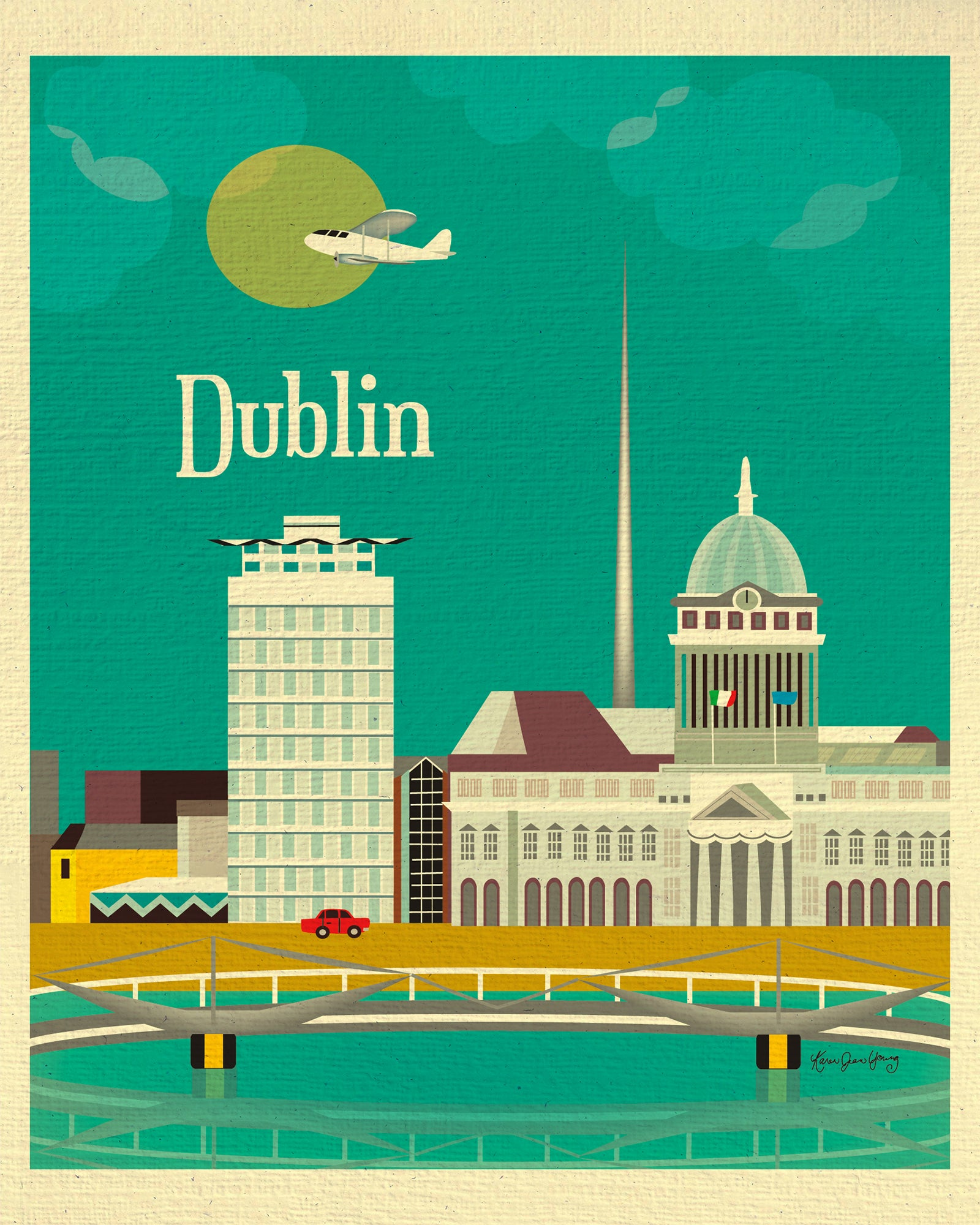 World City Travel Posters Dublin