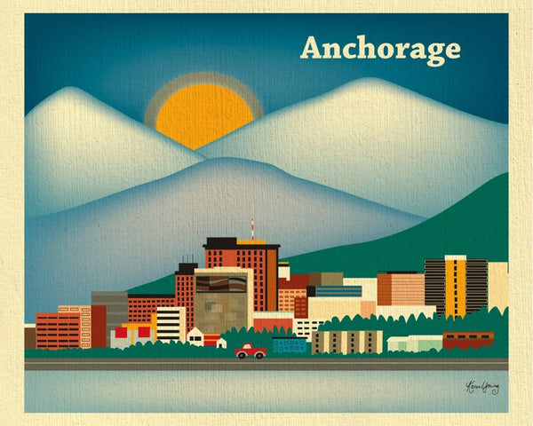 Anchorage wall art print for home or office, by Karen Young Loose Petals publishing