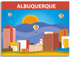 albuquerque large canvas print, albuquerque small canvas wall art, office space for albuquerque new mexico wall art, print, albuquerque wrapped canvas, loose petals canvas prints, karen young artistloose petals city prints