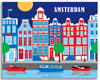 amsterdam skyline gallery wrapped canvas art print