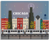large chicago canvas print, quality chicago skyline canvas art