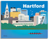 Hartford canvas wrapped print, Hartford CT wall decor