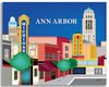 Ann Arbor wrapped canvas art print for home or office