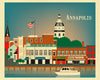 Annapolis prints, city dock art print