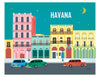 Havana art print, 8 x 10, 11 x 14 print, Loose Petals city art by Karen Young