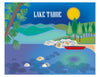 Lake tahoe skyline art prints, Loose Petals city art print by Karen Young