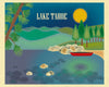 Lake tahoe skyline art posters, Loose Petals city art posters by Karen Young