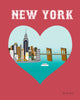 New York City, New York - Heart