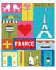SALE of France - Collage - MATTED PRINT