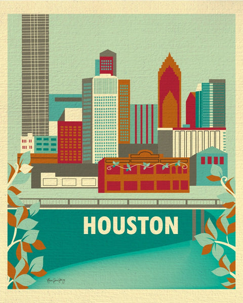 Houston art prints, small Houston prints, Houston, TX, Karen Young Loose Petals Houston city art