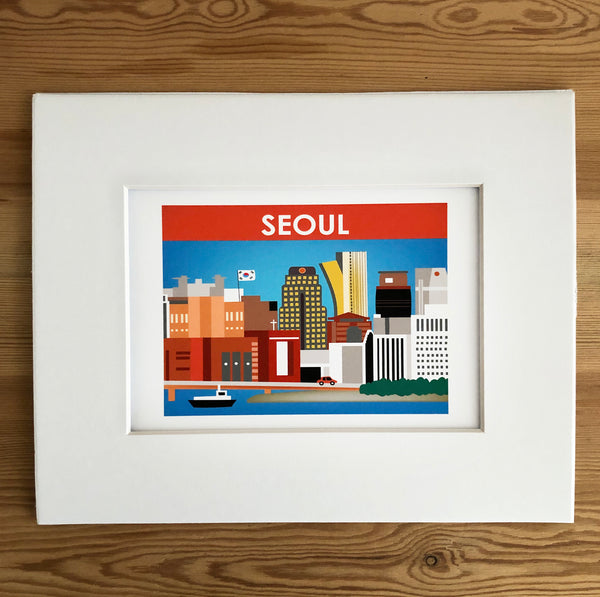 SALE of Seoul, South Korea - MATTED PRINT