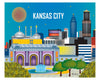 Kansas City print, 8 x 10, 11 x 14, KC Missouri prints, Kansas City MS prints, Karen Young Loose Petals City art Kansas City