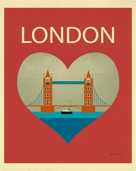 London Tower Bridge print, London Nursery wall art, London Heart Print,  UK Heart, Loose Petals city art print - London, UK print