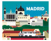 Madrid poster, Spain retro travel poster, Loose Petals city poster, Madrid gift, Madrid wall decor, Madrid wall art, Madrid Nursery