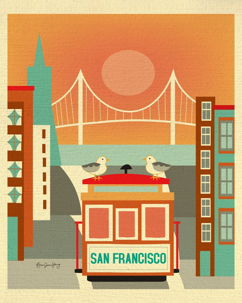 San Fransisco, California - Seagulls on Trolley