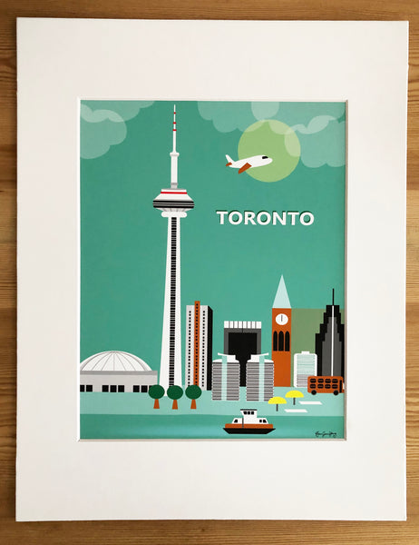 SALE of Toronto, Canada - MATTED PRINT