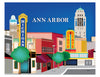 Ann Arbor art print, Main Street print, University of Michigan