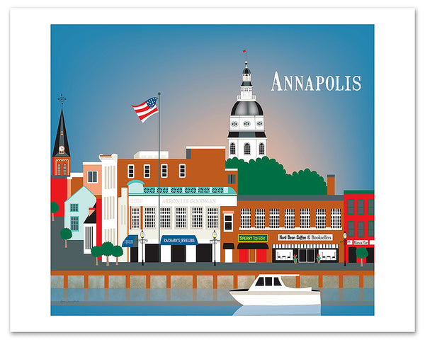 Annapolis large giclee poster