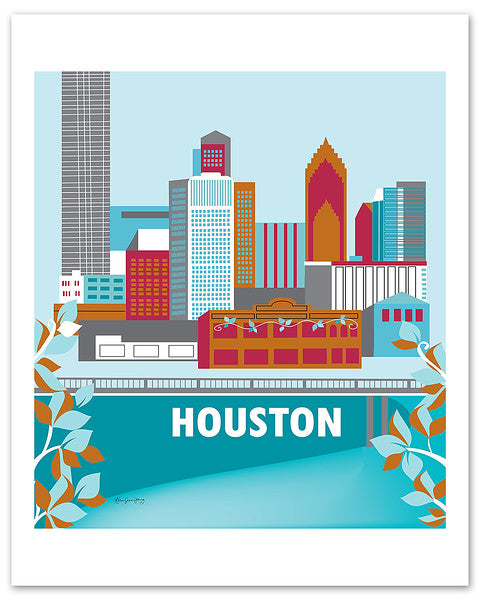 houston texas canvas wrap prints, city prints, travel posters, Karen Young Loose Petals