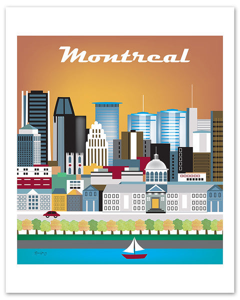 Montreal skyline poster, Canada poster, Canadian baby gift, Montreal Wedding gift, handmade Montreal gift, handcrafted Montreal souvenir, Loose Petals Montreal city poster, large Montreal artwork, Montreal skyline print, Canada print, Canadian baby gift, Montreal Wedding gift, handmade Montreal gift, handcrafted Montreal souvenir, Loose Petals Montreal city print, small Montreal artwork, city poster art by Karen Young