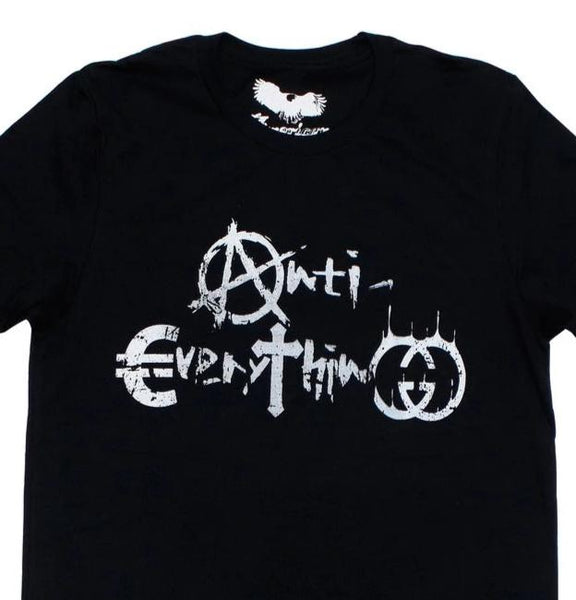 Punk Rock Tee Shirt x Anti~Everything x Black Unisex Graphic Tee Shirt  x by American Anarchy Brand