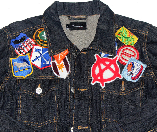 deep blue trucker,denim,jean jacket  - retro street wear fashion