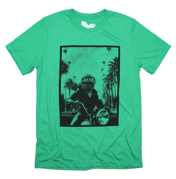 sesame street t-shirt - Hollywood grouch James Dean Mashup Tee