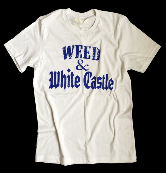 stoner tee , weed t-shirt - white castle shirt - marijuana - 420 apparel