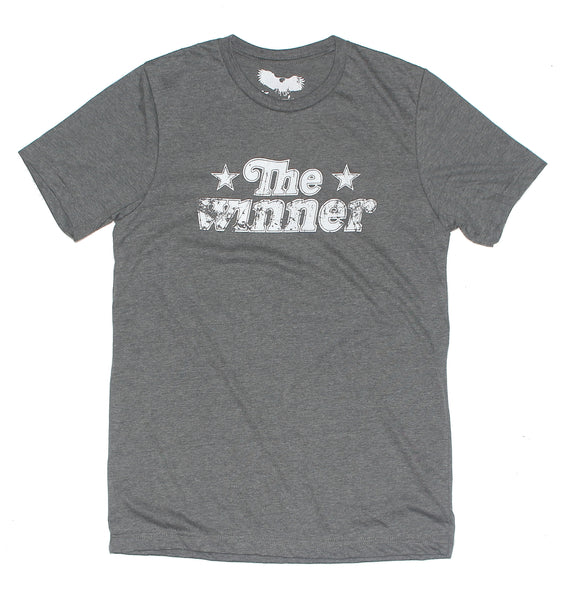 the winner graphic t-shirt , retro style graphic tee , the winner text graphic