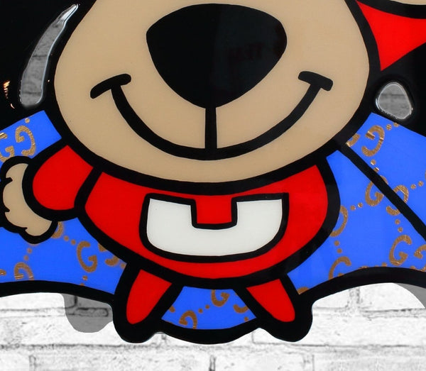 underdog painting , underdog logo , cartoon painting